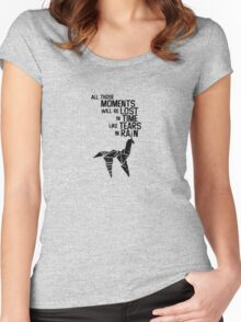 blade runner tears in the rain Women's Fitted Scoop T-Shirt