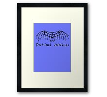Da Vinci Airlines Framed Print