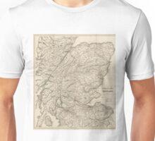 Vintage Map of Scotland (1855) Unisex T-Shirt
