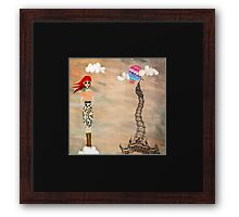 Redheads have more fun Framed Print