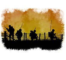 Soldiers dusk Photographic Print