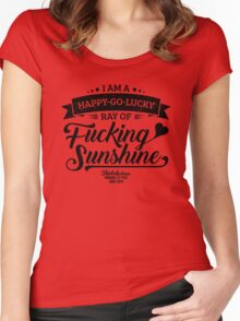 I am a Happy-Go-Lucky Ray of Fucking Sunshine in Yellow Women's Fitted Scoop T-Shirt