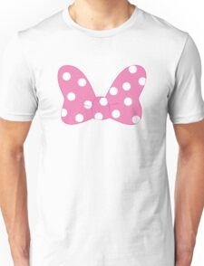 Polka Dot Bow - Pink Unisex T-Shirt