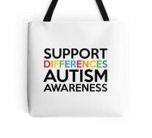 Support Differences Autism Awareness Tote Bag