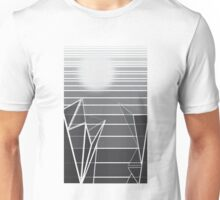 Grayscale Cliffs at Sunset Unisex T-Shirt