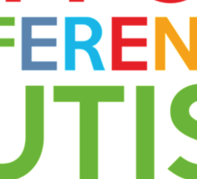 Support Differences Autism Awareness Sticker
