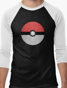 Sparkly red and silver sparkles poke ball Men's Baseball ¾ T-Shirt