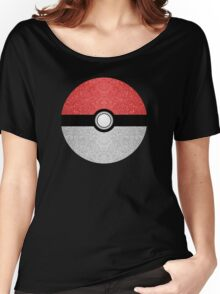 Sparkly red and silver sparkles poke ball Women's Relaxed Fit T-Shirt