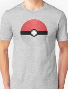 Sparkly red and silver sparkles poke ball Unisex T-Shirt