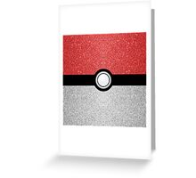 Sparkly red and silver sparkles poke ball Greeting Card
