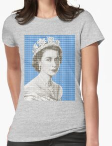 God Save The Queen - Blue Womens Fitted T-Shirt