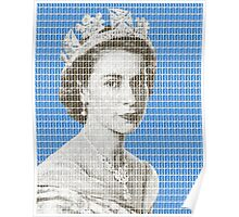 God Save The Queen - Blue Poster