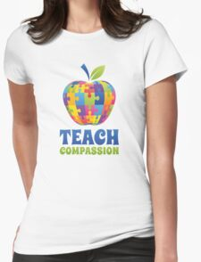 Teach Compassion Womens Fitted T-Shirt