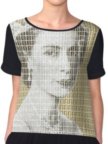 God Save The Queen - Gold Chiffon Top