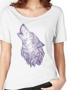 Triangulated Wolf Head Women's Relaxed Fit T-Shirt