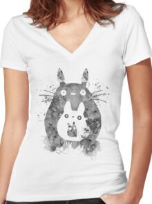 My Neighbour  Women's Fitted V-Neck T-Shirt