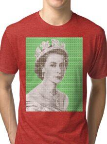 God Save The Queen - Green Tri-blend T-Shirt