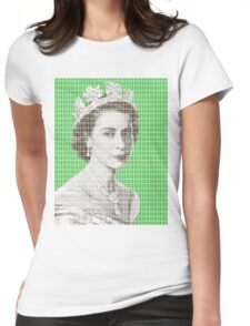 God Save The Queen - Green Womens Fitted T-Shirt