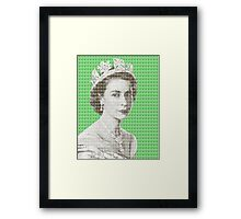 God Save The Queen - Green Framed Print