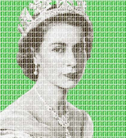 God Save The Queen - Green Sticker