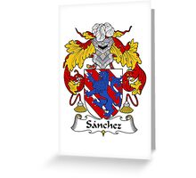 Sanchez Coat of Arms/Family Crest Greeting Card