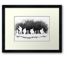 Soldiers greyscale Framed Print