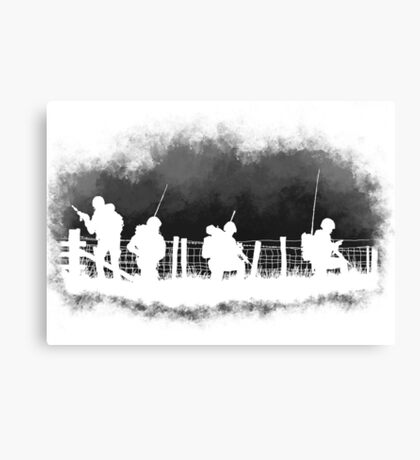Soldiers greyscale Canvas Print