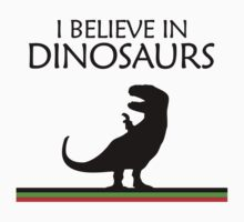 I Believe In Dinosaurs title artwork (black design) by jezkemp
