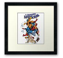 Spider-man vs Hobgoblin  Framed Print