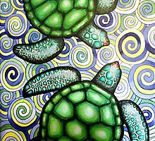 Turtle Tide in Spirals by Laural Retz Studio