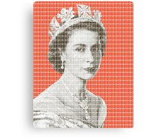 God Save The Queen - Orange Canvas Print