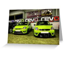 Two Green Fiestas HDR Greeting Card