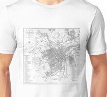 Vintage Map of Sheffield England (1823) Unisex T-Shirt