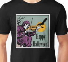 Happy Halloween! Skeleton Plays the Violin. Unisex T-Shirt