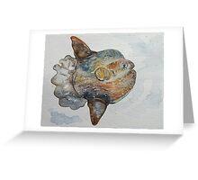 Ocean Sunfish (Facing Right) Greeting Card