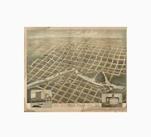 Vintage Pictorial Map of Sioux Falls SD (1881) Unisex T-Shirt