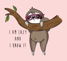 I am lazy and I know it One Piece - Short Sleeve