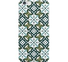 Blue and brown tiled pattern iPhone Case/Skin