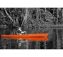 Red Kayak on the Black River Photographic Print