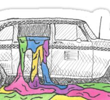 Taxi Cab twenty one pilots Illustration Sticker