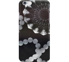 photograms with glass and necklace iPhone Case/Skin