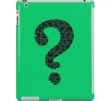 The Riddler's Puzzle  iPad Case/Skin