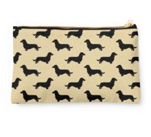 Long Hair Dachshund Cream Pattern Studio Pouch