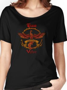 Valor Team Red Pokeball flag emblem Women's Relaxed Fit T-Shirt
