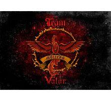 Valor Team Red Pokeball flag emblem Photographic Print
