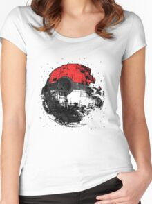 Pokemon Death Star Ultimate ! Women's Fitted Scoop T-Shirt
