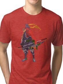 Red Hanzo Pixel Tri-blend T-Shirt
