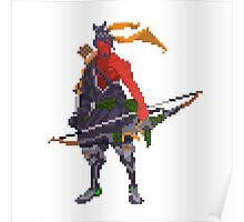 Red Hanzo Pixel Poster