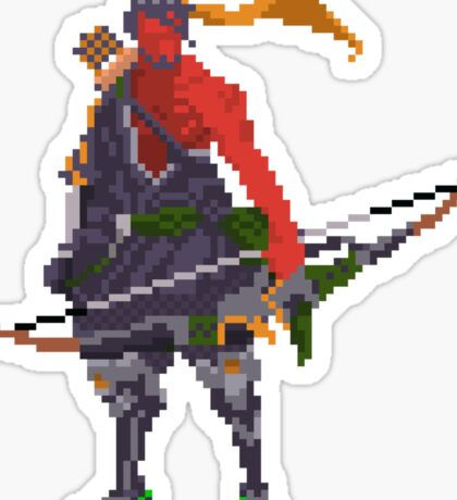 Red Hanzo Pixel Sticker