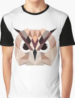 Colorful Owl Graphic T-Shirt
